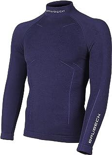LS11920 Bodyguard Wool Hombres Termo Merino Camisa Largas Mangas   Ropa Interior de Esquí