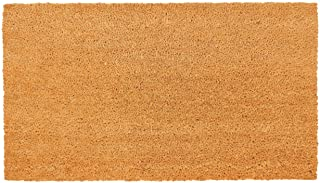 New KAF Home Coir Doormat with Heavy-Duty, Weather Resistant, Non-Slip PVC Backing | 17 by 30 Inches, 0.6 Inch Pile Height | Perfect for Indoor and Outdoor Use (Blank)