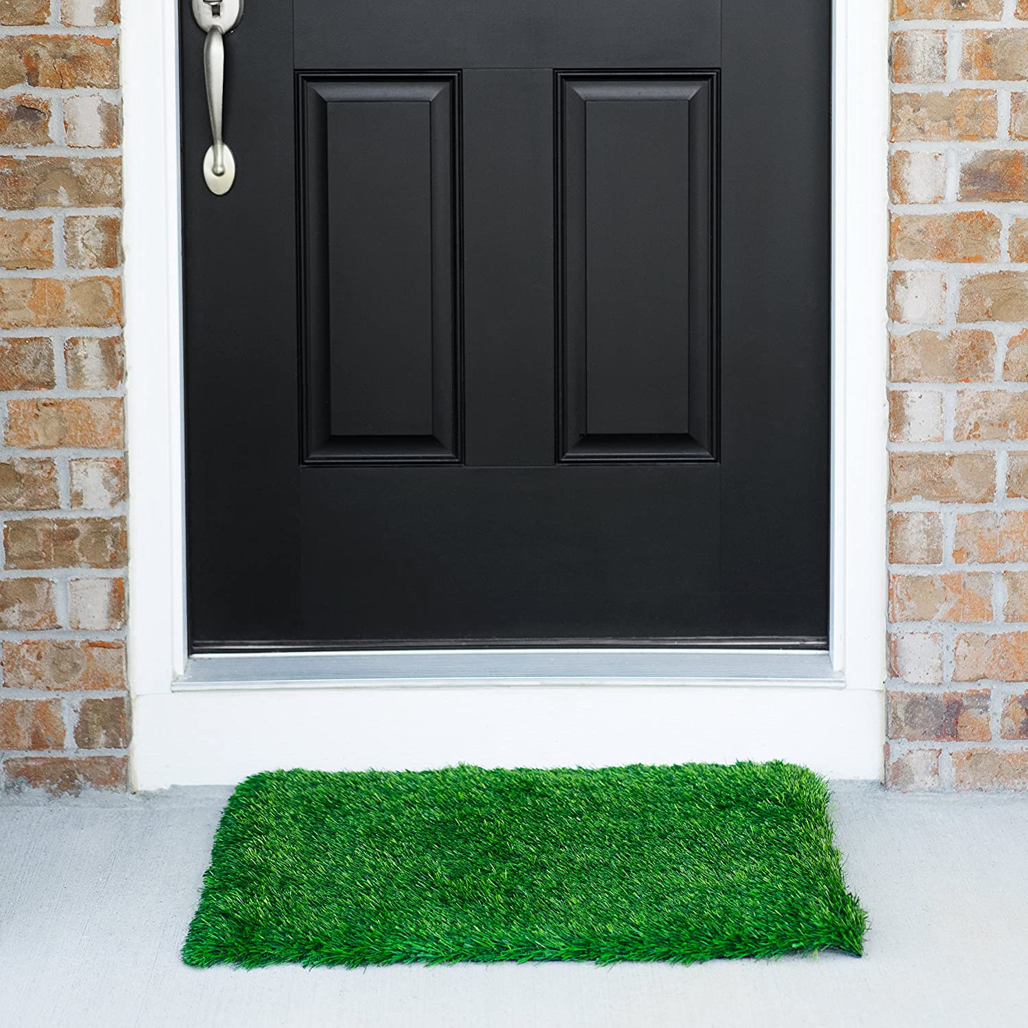 Grass Door Mat With SmartDrain Technology - Perfect For Your Garden Balcony & Porch (24X30 Inches)