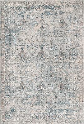nuLOOM KKVC05A Antique Isabella Area Rug, 9' x 12', Light Blue