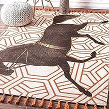 nuLOOM Thomas Paul Flatweave Area Rug, 4' x 6', Orange