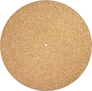 Turntable Mat Slipmat Cork (Diameter: 30 Centimeter Thickness: 3 Millimetre) Vinyl Record Improve Sound Quality Reduce Vib...