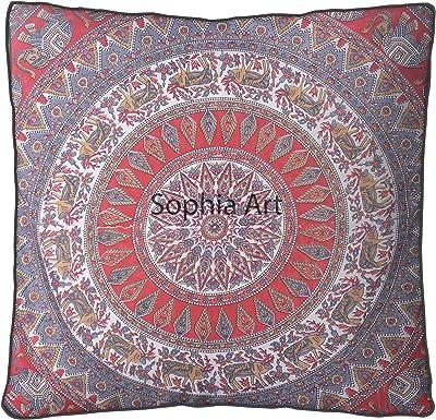 Amazon.com: yuvancrafts cuadrado Mandala almohada de piso ...