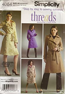 Simplicity 4084, Misses' Trench Coat, Size H5(6-14), OOP, 2006