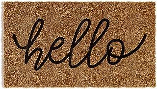 Barnyard Designs 'Hello' Doormat, Indoor/Outdoor Non-Slip Rug, Front Door Welcome Mat for Outside Porch Entrance, Home Ent...