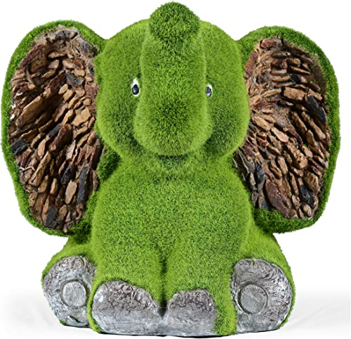 Sharpex Elephant Shape Garden Animal Statue/Lawn Yard Art Sculpture Decorations, Indoor/Outdoor Art Lawn Ornaments Ga...