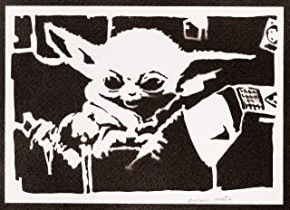 Poster Baby Yoda The Child Mandalorian STAR WARS Handmade Graffiti Street Art - Artwork