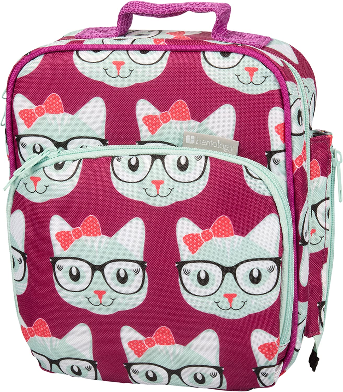 Bentology Lunch Box for Kids - Girls and Boys Insulated Lunchbox Bag Tote - Fits Bento Boxes