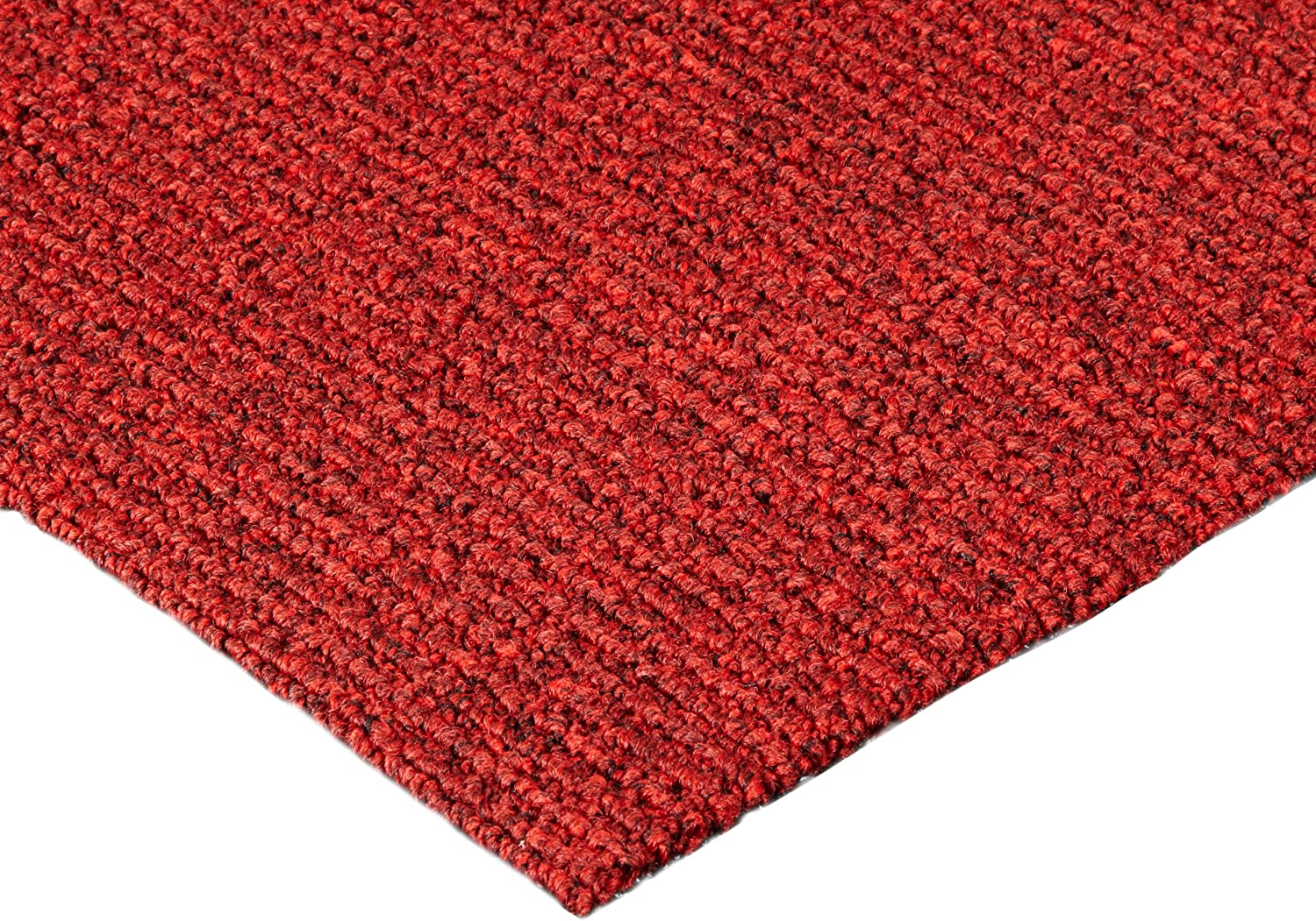 Notrax 132 Estes Entrance Mat, for Main Entranceways and Heavy Traffic Areas, 3' Width x 10' Length x 3 8  Thickness, Red Black