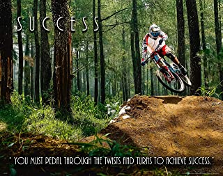 Apple Creek Bicycle Motivational Poster Art Print 11x14 Wall Decor Success Pictures BMX Mountain Bike Parts