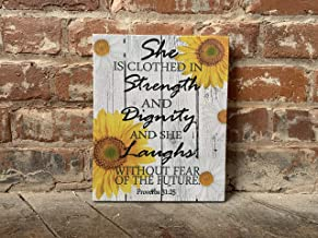 Proverbs 31:25 Christmas Gift, Scripture, BEST Gift, She is Clothed in Strength and Dignity, Custom CANVAS, Perfect Present
