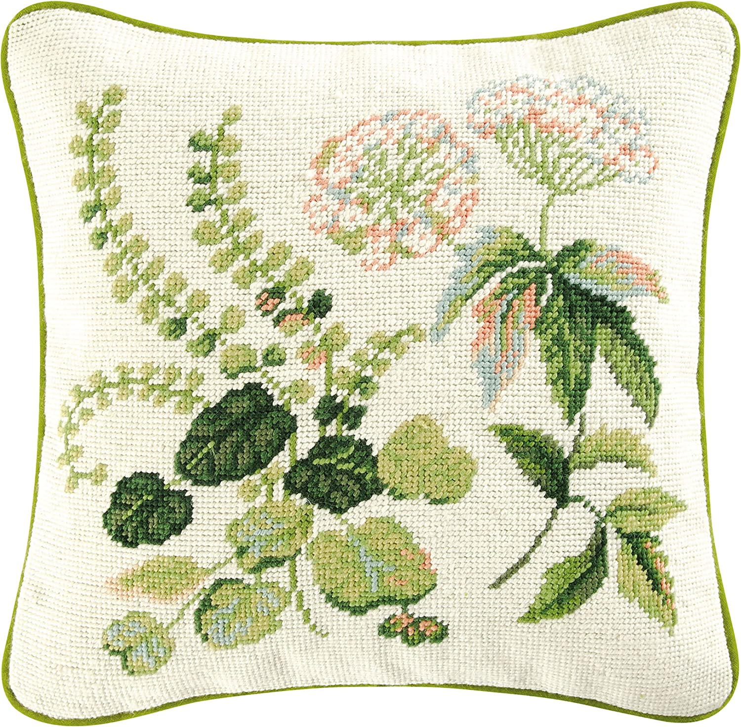 CF Home Colonial Williamsburg Fern Needlepoint 14 x M Spring new work Indianapolis Mall one after another Pillow