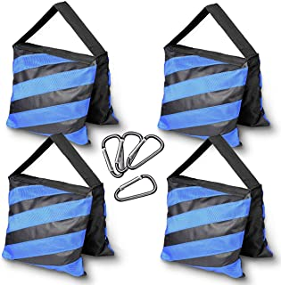Photography Upgraded Heavy Duty Sandbag – Emart 4 Pack Photo Video Studio Stage Film Sand Bags for Backgrounds Light Stands Boom Arms Tripods