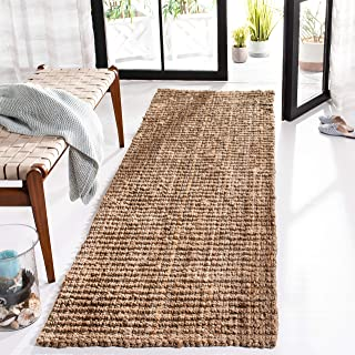 "Safavieh Natural Fiber Collection NF447A Hand-woven Chunky Textured Jute Runner, 2' 6"" x 6'"