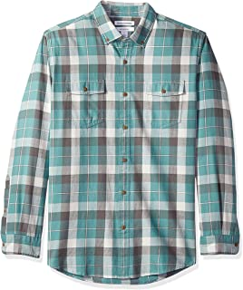 Men's Regular-Fit Long-Sleeve Plaid Two-Pocket Twill Shirt