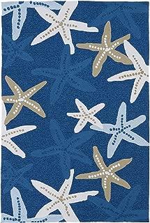 Kaleen Rugs Matira Collection MAT04-17 Blue Handmade 5'X7'6