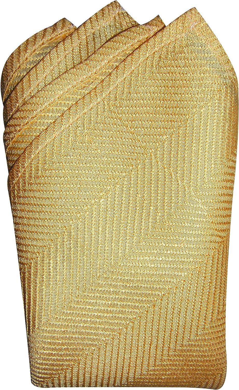 Mellow Yellow Herringbone Silk Handkerchief - Full-Sized 16