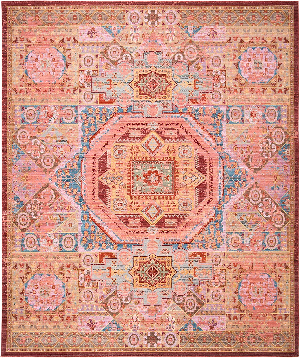 Safavieh Outlet SALE Valencia Collection service VAL216K Boho Distressed Chic R Area