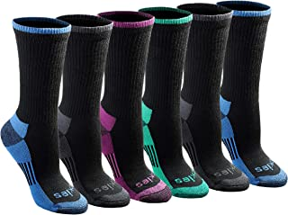 womens Dritech Advanced Moisture Wicking Crew Sock (6/12 Pairs)