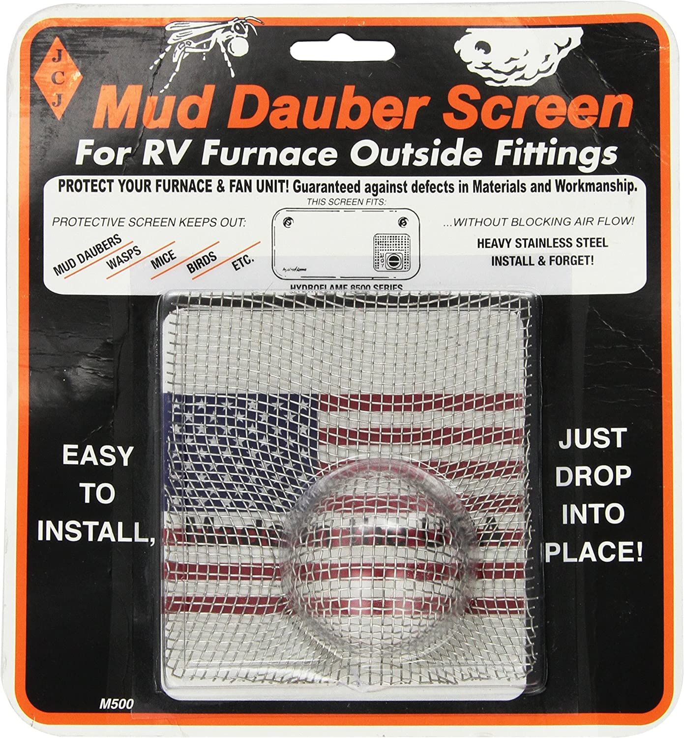 JCJ M-500 Mud OFFicial site Industry No. 1 Dauber Screen Fitting Outside for Furnace RV