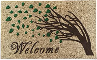 A1 Home Collections Welcome Tree 3D Effect and German Flocked Designer Doormat