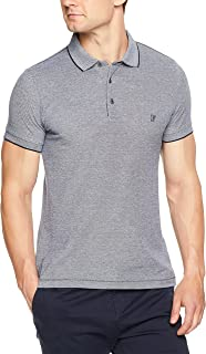 French Connection Men's Oxford Pique Polo Marine Blue