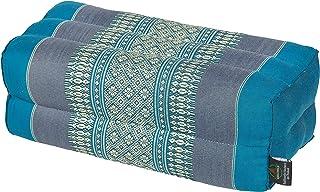 Cojín rectangularcon relleno de kapok - 35x 15x 10 cm Perfecto para yoga, meditación y relajación.
