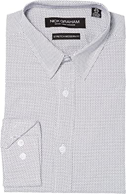 Dot Print Stretch Dress Shirt