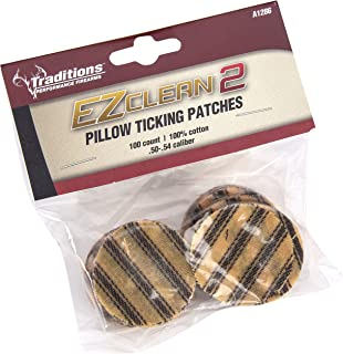 Traditions Performance Firearms Black Powder EZ Clean 2 .50-.54 Cal 100/Bag Pillow Ticking Patches