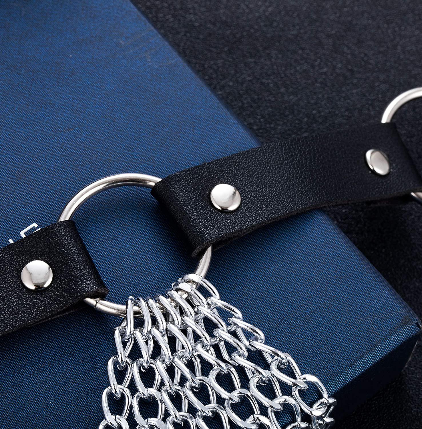 YOVORO 2PCS Punk Waist Belly Chain Belt for Women Leather Layered Body Chain Dance Pary Body Accessories Jewelry