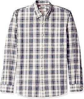 Goodthreads Standard-Fit Long-Sleeve Pattern Chambray Shirt Uomo