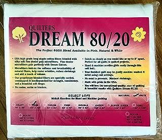 Quilter's Dream 80/20, White, Select Loft Batting - Crib Size 60
