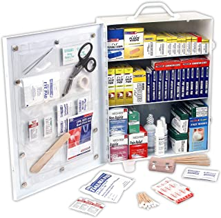 Rapid Care First Aid 80094 3 Shelf ANSI/OSHA Compliant All Purpose First Aid Cabinet, Wall Mountable, 800 Pieces