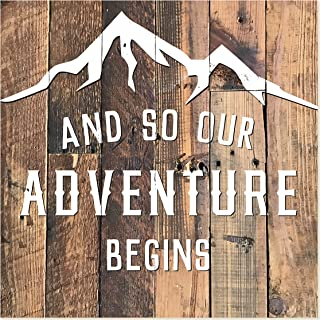 and so our adventure begins sign