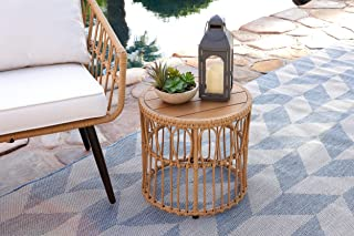 Quality Outdoor Living 29-YZSTHM Hermosa Side Table, Natural