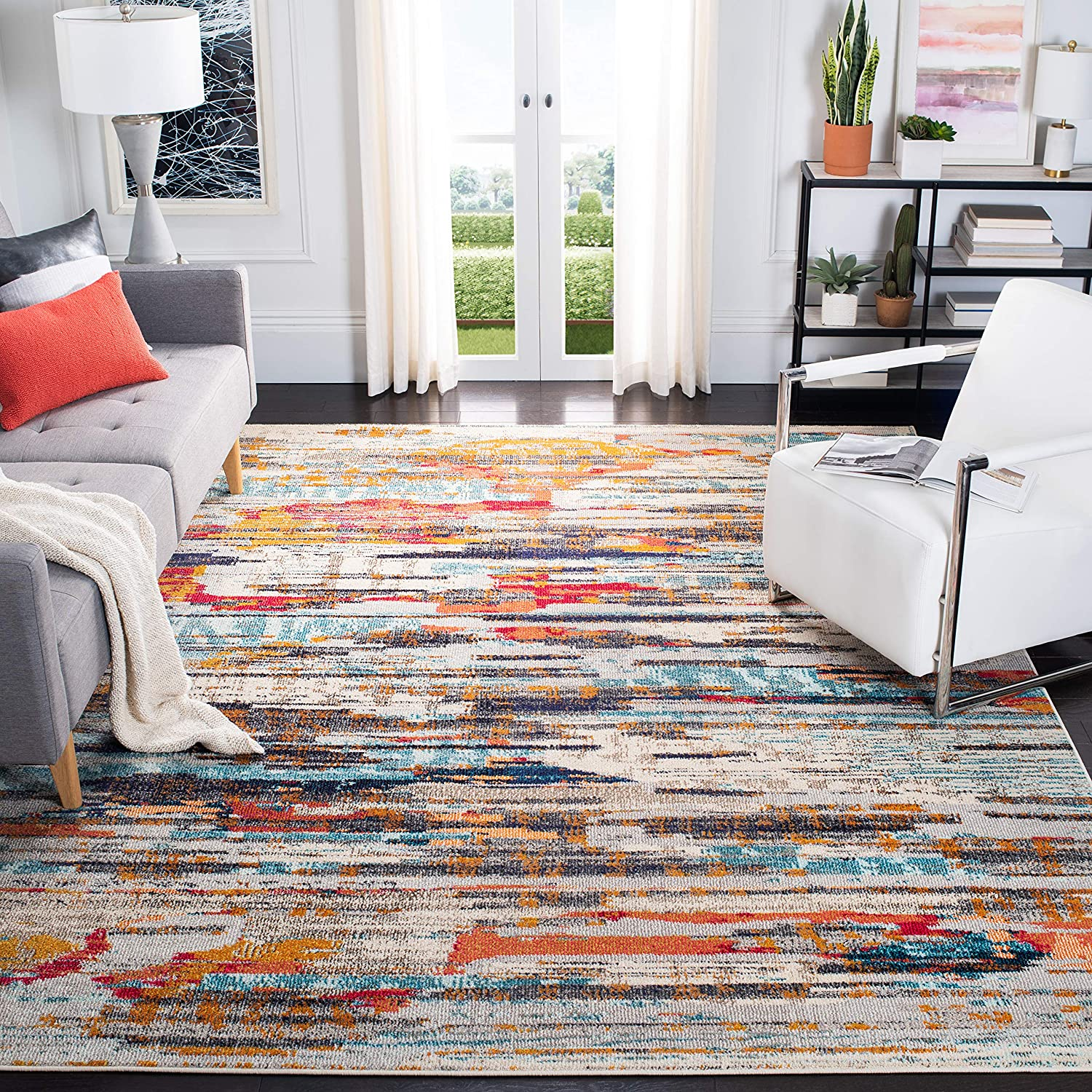Ranking TOP14 Safavieh Madison Collection MAD419C Boho Abstract Non Distressed OFFicial