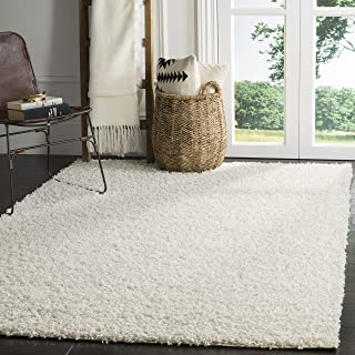 Safavieh Athens Shag Collection SGA119B White Area Rug (4' x 6')