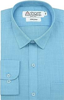 Arihant Pin Checks 100% Cotton Full Sleeves Regular Fit Formal Shirt for Men