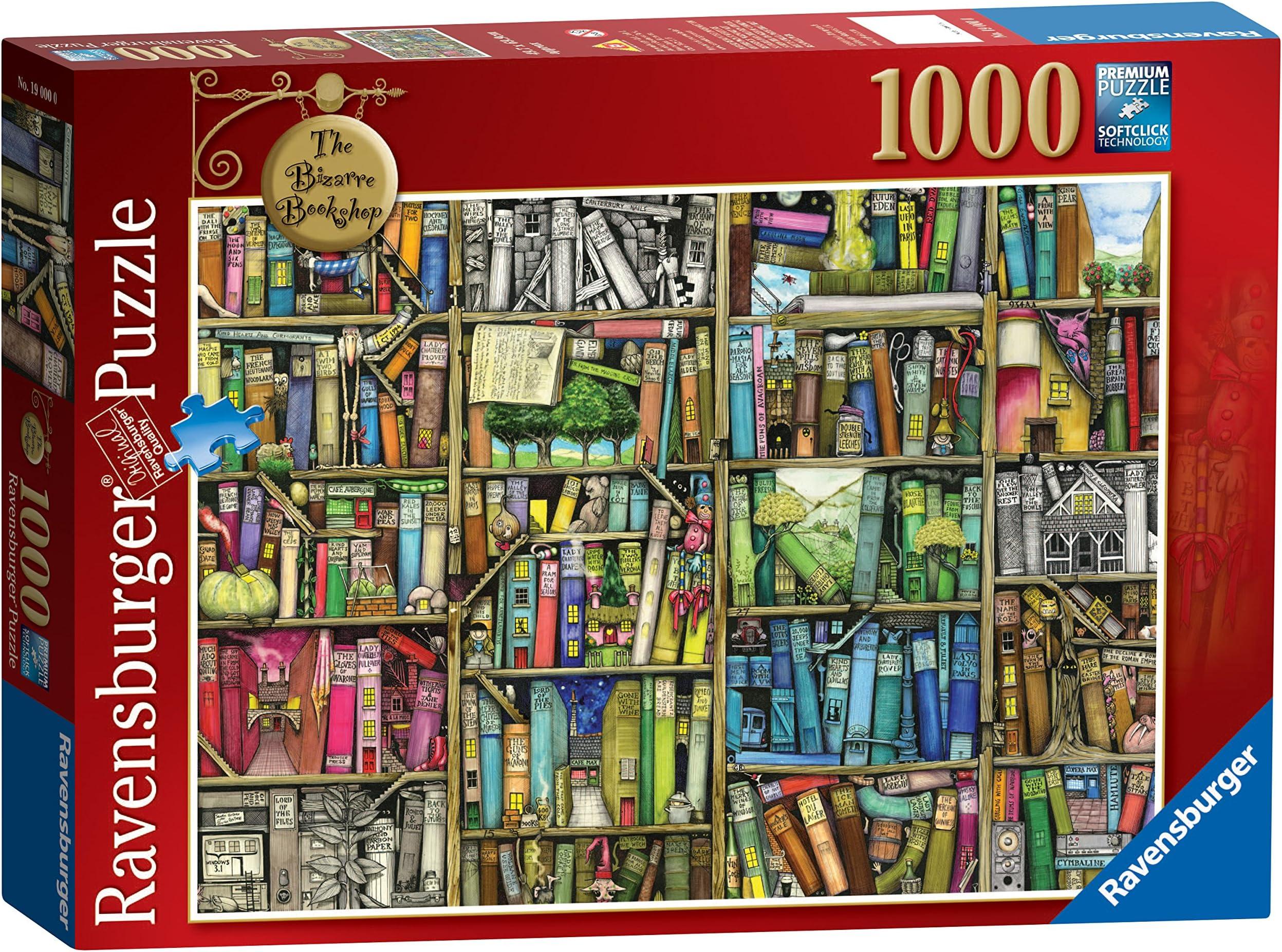 "New Ravensburger ""The Bookshop 1,000 Piece Jigsaw Puzzle"