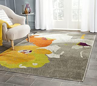 Safavieh Porcello Collection PRL7731D Dark Grey and Ivory Area Rug (9' x 12')