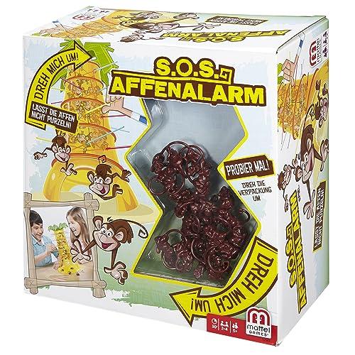 Mattel Games 52563 - S.O.S. Affenalarm, lustiges Spiel geeignet für 2 - 4 Spieler, Spieldauer ca. 30 Minuten, Kinderspiele ab 5 Jahren