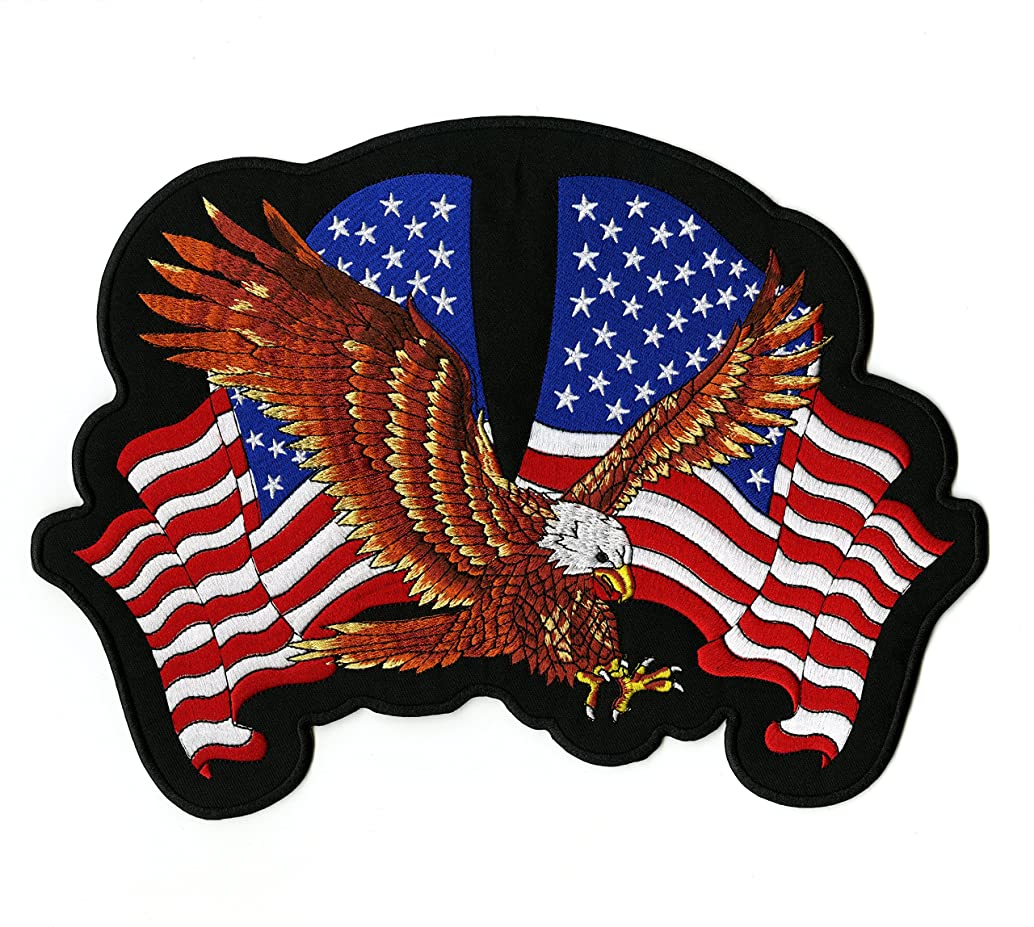 Federal Eagle US Flag Patch | Military Embroidered Large Patriotic Veteran - by Nixon Thread Co. (12
