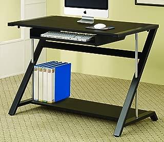 Coaster Home Furnishings Computer Desk with Bottom Shelf Black