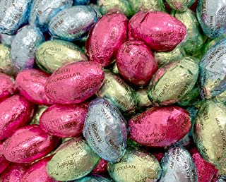 Sunny Island HERSHEY'S Eggs Solid Milk Chocolate Candy, Pastel Color Bulk - 2 Pound Bag