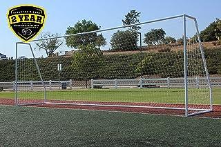 cca73d00d G3Elite Pro 24x8 Regulation Soccer Goal, 3.5mm White Net, Portable,  Strongest 2