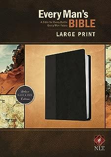 Every Man's Bible NLT, Large Print, TuTone (LeatherLike, Black/Onyx)