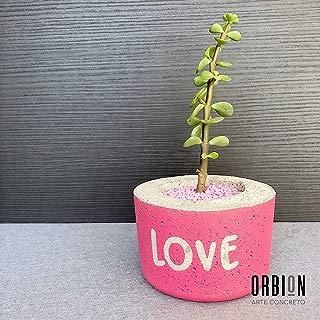 Maceta Pipe LOVE personalizada de concreto
