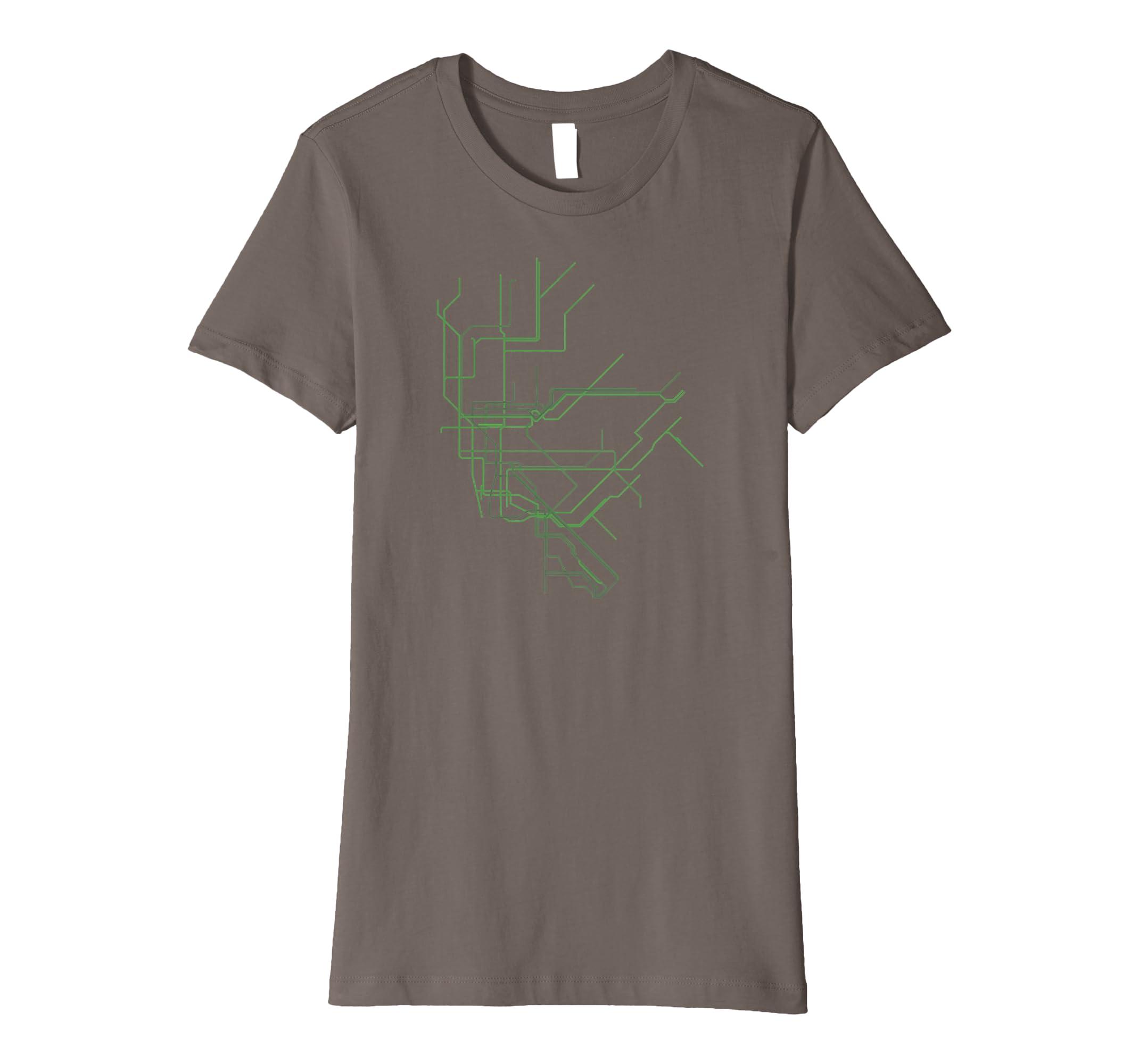 Amazon.com  New York City NYC Subway Map Line Art Shirt  Clothing 4ef2391ce69