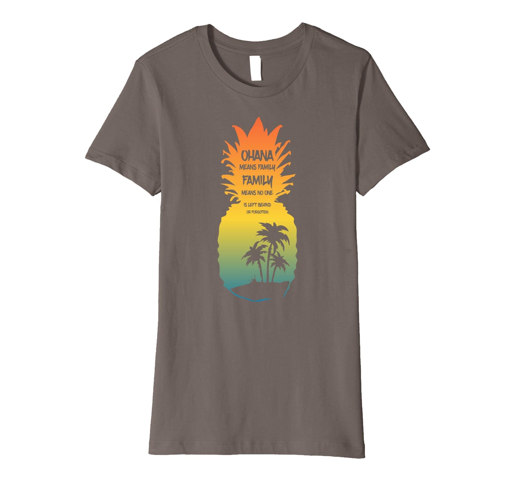 ad8fbf4a Amazon.com: Cute Ohana Means Family 2018 T-Shirt: Clothing