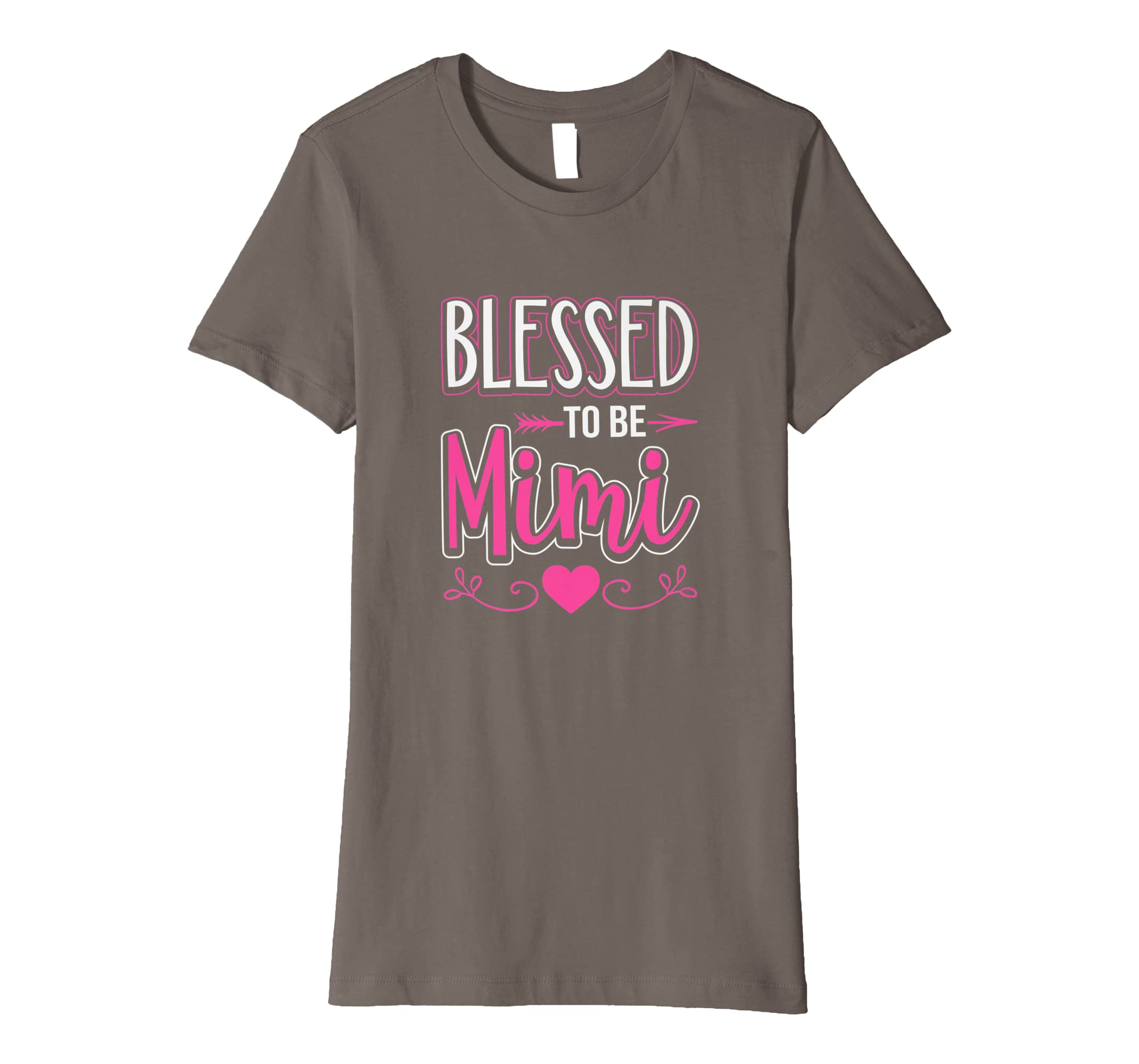 d2bfd14e Amazon.com: Blessed To Be Mimi T-Shirt Grandma Tee: Clothing
